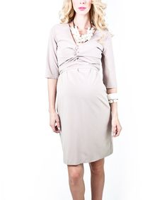 Take a look at this Taupe Adina Maternity Dress on zulily today!