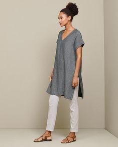 Linen Tunic Dress, Linen Dresses, Women's Tunic Dresses, White Tunic Dress, Renaissance Clothing, Steampunk Clothing, Gypsy Clothing, Mein Style, Mode Boho