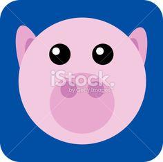 flat round pig