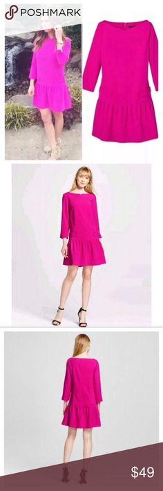 7248609745a New Victoria Beckham Fuchsia Pink Dress Small Sz S Victoria Beckham for  Target Fuchsia Pink Dress