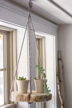 DIY+round+wood+shelf+plant+hanger 1.000×1.500 Pixel