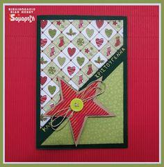 Χριστουγεννιάτικη κάρτα με χαρτόνι διπλής όψης και κανσόν.  #ΧΑΛΚΙΔΑ #ΣΑΜΑΡΤΖΗ #ΚΑΡΤΑ #ΧΕΙΡΟΤΕΧΝΙΕΣ #ΒΙΒΛΙΟΠΩΛΕΙΟ #HOBBY#ΧΡΙΣΤΟΥΓΕΝΝΙΑΤΙΚΗ Blog Page, Cards, Maps, Playing Cards