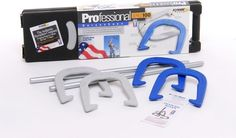 Professional Horseshoe Set Series 100 horseshoes. Unique shape and exclusive trademark design make it superior to other horseshoes. Professional Horseshoe Set feature ringer breaks, longer tips and tapered leading edges to give you more successful ringers. | eBay!