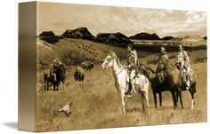 """""""Following+the+Buffalo""""+by+I.M.+Spadecaller,+Tampa+Bay+//+The+Blackfoot+Native+American+tribe+was+among+the+first+indigenous+tribes+to+inhabit+the+Great+Plains+and+Canadian+Prairies+of+North+America.+The+Blackfoot+Confederacy+or+Niitsitapi,+which+means+'original+people,'+is+the+collective+name+of+three+First+Nation+band+governments...+//+Imagekind.com+--+Buy+stunning+fine+art+prints,+framed+prints+and+canvas+prints+directly+from+independent+working+artists+and+photographers."""