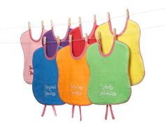 These PetitesFrittes bibs are made from sustainable and unbleached fabrics, plus, they're adorable and soft. www.thebump.com #EcoFriendly #cleaning #green #parenting