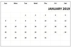 January 2019 Biweekly Payroll Calendar Template For