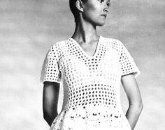 Vintage CROCHET Dress Pattern PDF Pattern by KinzieWoolShop