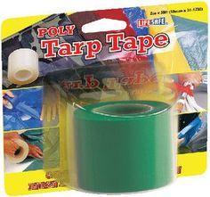 Incom RE6455 2-Inch by 35-Foot Polyethylene Tarp Repair Tape, Green