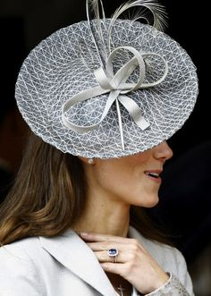 #royal #hats; Kate Middleton, Duchess of cambridge  visit me at My Personal blog: http://stampingwithbibiana.blogspot.com/