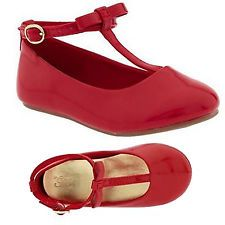 Baby Gap T Strap Ballet Flats w/Bow, Red