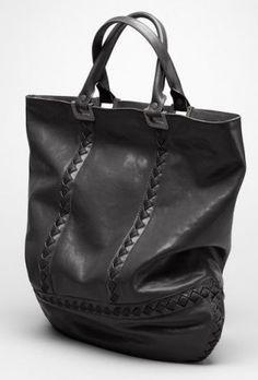 Bottega Veneta Nero Vitello Laque Metal Stripes '73 Bag #handbags
