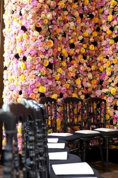 Wall of roses by Raf Simon