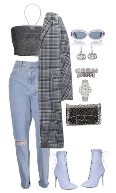 """Untitled #3324"" by mollface ❤ liked on Polyvore featuring Boohoo, Linda Farrow, H&M, Gucci and Chanel"