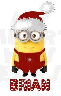 Printable DIY Christmas Santa Hat Minion by MyHeartHasEars on Etsy, $5.00