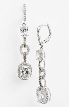 Judith Jack 'Radiance' Linear Drop Earrings available at #Nordstrom