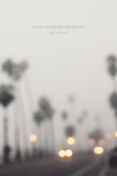 Santa Barbara Fog by Tristan B.  To get the headlight bokeh (the blurry lights) I manually unfocused to create a very soft, dreamy, hazy effect.  Not great for every photo of course, but a fun technique every now and then.