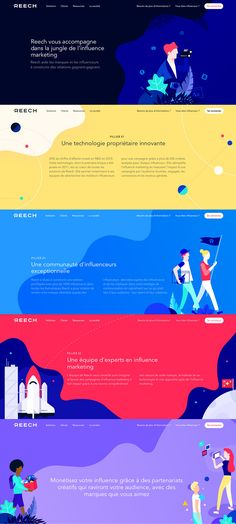 Too colorful, young. Design Sites, Ui Ux Design, Interface Design, Graphic Design, Flat Design, Website Layout, Web Layout, Layout Design, Design Thinking