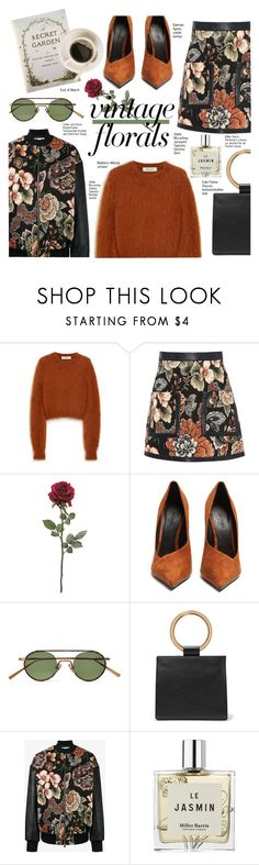 """""""Vintage Florals"""" by voguefashion101 ❤ liked on Polyvore featuring Mulberry, STELLA McCARTNEY, Balmain, Acne Studios, Edie Parker, Miller Harris and vintage"""
