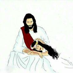 Jesus Art, My Jesus, Bible Art, Bible Scriptures, Jesus Cartoon, Pictures Of Jesus Christ, Jesus Christus, Christian Relationships, Bride Of Christ