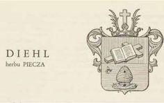 Skomplikowane drzewo genealogiczne rodziny Diehl i Baum - herb rodziny Diehl