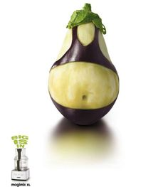 - 'Big Is In' campaign for the Magimix line of food processors features print ads which use Rubinesk, bikini-clad, veggies. Food carving has been see. L'art Du Fruit, Fruit Art, Fruit Cakes, Veggie Art, Fruit And Vegetable Carving, Veggie Food, Food Sculpture, Creative Food Art, Food Carving