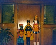 Author #MonicaMcCarty talks #Halloween!  That's me as Wonder Woman (age 12ish), my sister as bat girl and my brother as a transformer. My mom actually made this costume for me. Sadly those sewing genes didn't get passed down, and my kids are stuck with store bought! How about those groovy white boots? I think I wore them also for my second favorite halloween costume as a Raiderette!   My favorite paranormal romance books are any of Karen Marie Moning's Highlander books!
