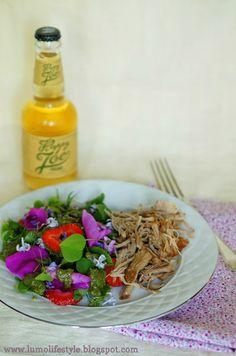 lumo lifestyle: Cider braised pulled rhubarb pork with wild summer salad