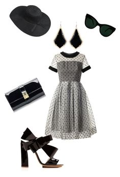 """""""Mrs.White from the movie Clue part 2"""" by monea-paris101 ❤ liked on Polyvore featuring Orla Kiely, Delpozo, Florian London, KamaliKulture and Kendra Scott"""