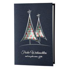 Blaue Weihnachtskarten - sehr elegant!