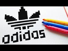 Pixel Art Handmade - Wie zeichnet man das Adidas Logo - d r a w - p i x e l - Kunst Systems Art, Pixel Art, Drawings, Alphabet Art, Pixel Drawing, Graph Paper Art, Art Logo, Art, Youtube Art