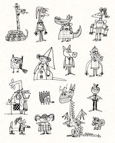 Fred Blunt has taken the Rocky Bullwinkle aesthetic and made it something I… Character Design, Character Illustration, Doodle Characters, Sketch Book, Illustration Artwork, Doodles, Character Design Animation, Character, Book Illustration