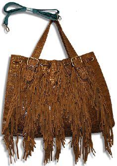 Brown Cowgirl Fringe Hobo Purse