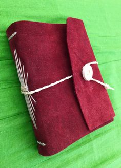 Learher bound journal, longstitch. Hand made journal.
