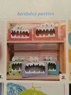 Tissue box monster.  From Parents Magazine.