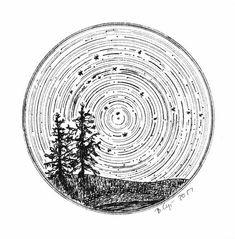 Gemini - Star Trails - Zodiac Constellations - Pen and Ink Drawing Pri – BethCyr Gemini Star, Star Trails, Zodiac Constellations, Ink Illustrations, Pen Illustration, Nature Tattoos, Pen Art, Art Drawings, Drawing Designs
