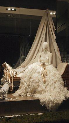 Monique Lhuillier Los Angeles Salon- Ballet Themed Window