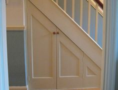 for over the oven Desk Under Stairs, Under Stairs Cupboard, Cherry Wood Desk, Living Room Built Ins, 1930s House, Stair Storage, Interior Trim, Stairways, Extension Ideas