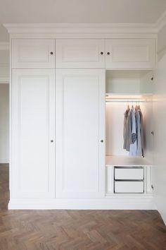 Bedroom closet design built in wardrobe dressing rooms 33 ideas Wardrobe Doors, Bedroom Wardrobe, Wardrobe Closet, Built In Wardrobe, Hanging Wardrobe, Wardrobe Drawers, White Wardrobe, Closet Wall, Entry Closet