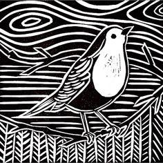 Robin Christmas card.... Available from @inspired_by_the_sea @worthingmuseum @brandonflowers4 @studiofreer, The Art House in #southampton and my Etsy shop - link in profile #oldwork #christmas #christmascard #linocut #lino #robin #bird #gardenbird #xmas #blackandwhite #monochrome #art #artwork #etsy #folksyhq #btnetsy #thearthousesouthampton