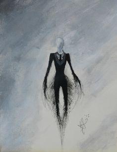 Slenderman Inspired Painting 50 off by Xenavreth on Etsy, $15.00