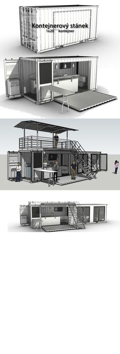 the prototype of the shipping container stand