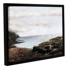 Lakeside by Gene Foust Floater Framed Painting Print on Wrapped Canvas