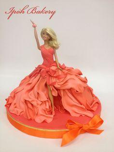 Coral Swirling Dress Barbie