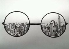 Skyline glasses tat but with SF
