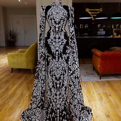 Dubai Design Feathers Navy Blue Evening Dresses Abendkleider Islamic Prom Dress For Weddings Vestido Arabic Beaded Pageant Gowns(China) Couture Mode, Style Couture, Couture Fashion, Glam Dresses, Couture Dresses, Fashion Dresses, Stunning Dresses, Pretty Dresses, Beautiful Outfits
