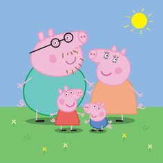 England TV cartoon Peppa Pig and family vector scene in EPS format. Peppa Pig Pictures, Peppa Pig Images, Peppa Pig Familie, Peppa Pig Drawing, Aniversario Peppa Pig, Cumple Peppa Pig, Pig Family, Family Vector, Birthday