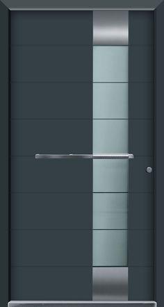 Resultado de imagen de ral 7026 door Grey Front Doors, Modern Front Door, Front Door Design, Front Door Colors, Entrance Doors, Doorway, Main Door, Main Gate, Contemporary Bathrooms