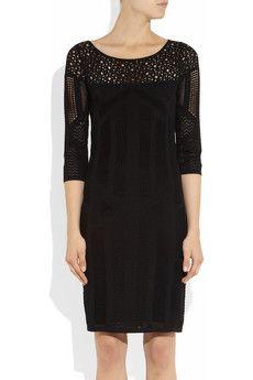 Catherine Malandrino- open and pointelle-knit dress