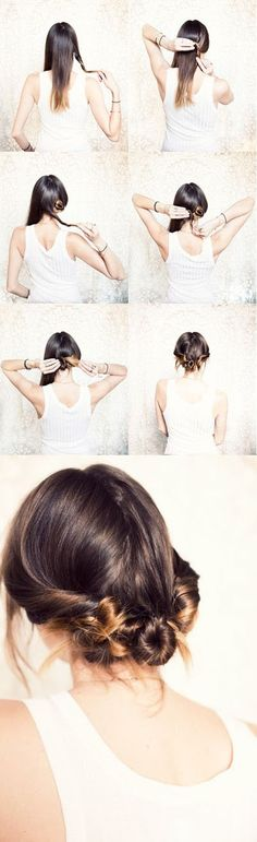 Three Twisted Buns: 7 Fabulous Hairstyle Tutorials For You