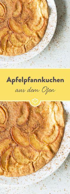 Apfel und Zimt sind ein unschlagbares Doppel! Umgeben von luftigem Pfannkuchenteig fühlt es sich dann an wie eine warme Umarmung - kuschelig!
